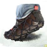 Sur-chaussure semelle anti-glisse neige, verglas et bous EZYSHOES