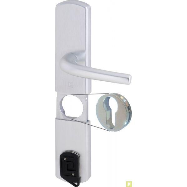 garniture de porte blind e avec prot ge cylindre magn tique. Black Bedroom Furniture Sets. Home Design Ideas