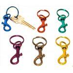 Porte clés- anneau à clé de couleur 25mm avec mousqueton
